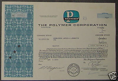 The Polymer Corporation 1973 50 Shares