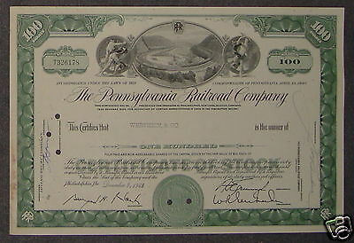 The Pennsylvania Railroad Company 1965 100 Shares