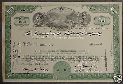 The Pennsylvania Railroad Company 1964 100 Shares