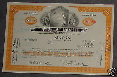Virginia Electric and Power Company 1974 60 Shares