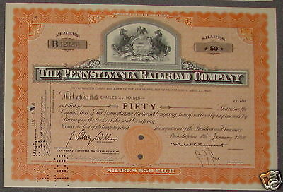 The Pennsylvania Railroad Company 1950 50 Shares