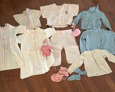 Vintage 1930s 1940s Baby Clothes Girl Vtg 40s 50s