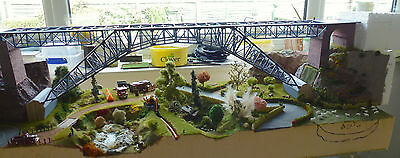 HO scale two track Faller bridge. total length 120cm