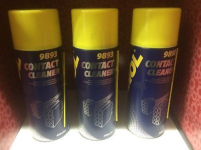3 X Mannol 9893 Electrical Contact Cleaner Spray Aerosol 450Ml Can German Hi Spe