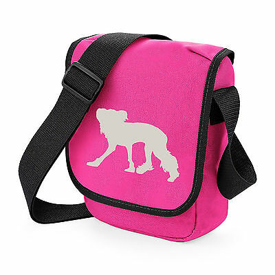 Chinese Crested Dog Silhouette Messenger Bag Shoulder Bags Birthday Xmas Gift