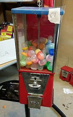 "$.25 Route Used EAGLE 1"" Toy Capsule Gumball Vending Machine w 100 capsules E7"