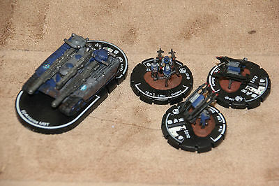 Storm Hammers Hanse MBT Vehicle and 3x LRM Battery Figures Mechwarrior Clix