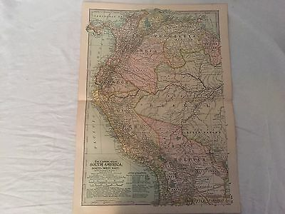 Vintage South America North The Map CENTURY DICTIONARY AND CYCLOPEDIA 1906 19851