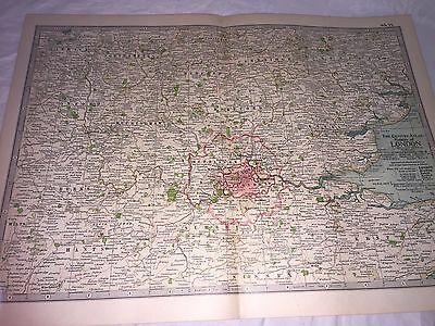 London Map THE CENTURY DICTIONARY AND CYCLOPEDIA 1906 19936 Antique Vintage