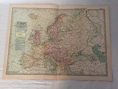 Vintage  Europe The Map CENTURY DICTIONARY AND CYCLOPEDIA 1906 19853