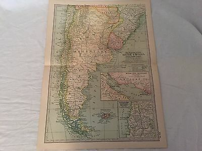 Vintage South America The Map CENTURY DICTIONARY AND CYCLOPEDIA 1906 19850
