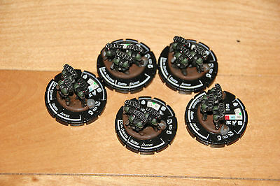 Clan Jade Falcon Gnome Battle Armor Mechwarrior Clix figures