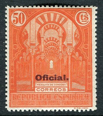 SPAIN;  1931 early Official issue fine Mint hinged 50c. value