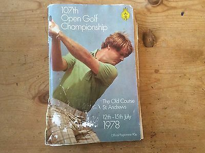 107th open golf championship official programme 1978