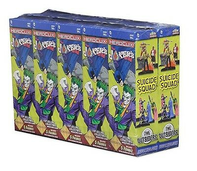 DC HeroClix Jokers Wild Booster Brick 10 Count (2016) NEW SEALED
