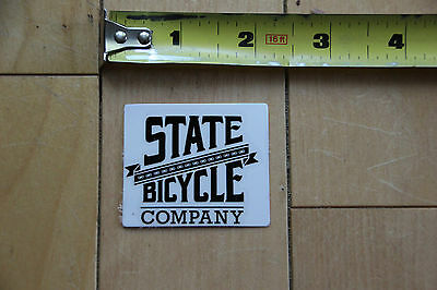 New State Bicycle Company Black Sticker Decal for Bicycles Mountain Road style 1