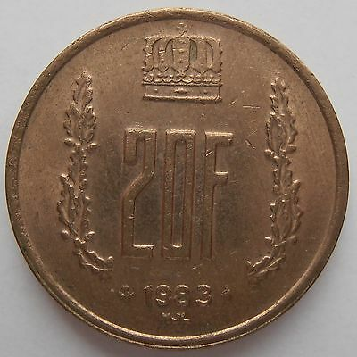 Luxembourg 20 Franc 1983