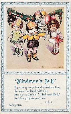 Postcards - Children - Song Card - Blindman's Buff - 1925
