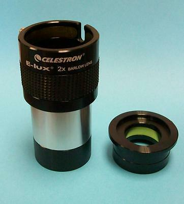 "Celestron 2"" E-Lux 2x  Barlow For Telescope Eyepiece - NEW"
