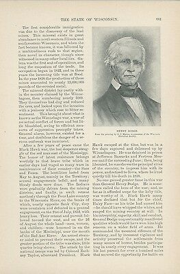 1891 State of Wisconsin Article History Politics Business Economy Leaders