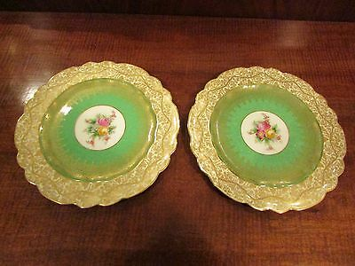 Pair of George Jones Cresent China Cabinet Dessert Plates c.1931