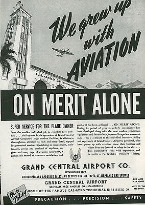 1945 Grand Central Airport Co. Ad Service Repair Conversion Aircraft Airplanes