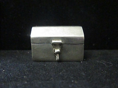 Vintage Sterling Silver Chest Shaped Pill Box