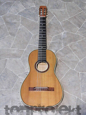 gorgeous historic all solid vienna style PARLOR GUITAR Germany ~1910 -- LOOK
