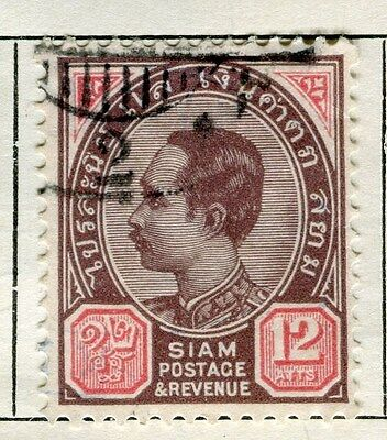 THAILAND;  1900-04 early defintive issue fine used 12a. value