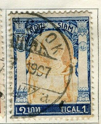 THAILAND;  1905-08 early issue fine used 1T. value