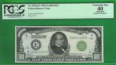 $1000 1928 Gold Demand RICHMOND *PCGS XF 40* Federal Reserve Note!