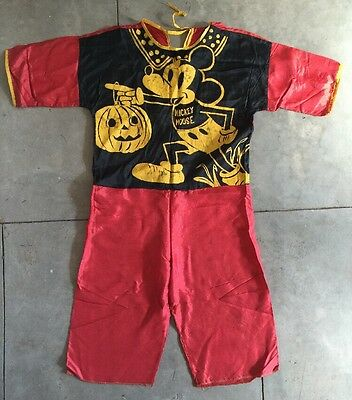 Vintage 1940s Mickey Mouse & Jack O Lantern Halloween Costume Ben Cooper