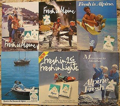 Collectable ads for Alpine cigarettes