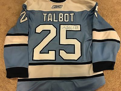 MAX TALBOT 07'08 Winter Classic Signed Pittsburgh Penguins Game Issued Jersey