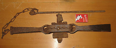 Vintage LANES DOUBLE ENDER RABBIT TRAP Metal art mancave wall display only