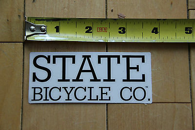 New State Bicycle Company Black Sticker Decal for Bicycles Mountain Road style 2