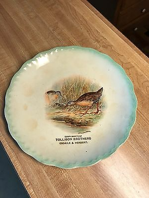 RARE Early Tollison Brothers Store Advertising Plate w/Ducks-D.E. McNichol-Nice