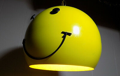 Smiley Face metal swag lamp light retro 1970's vintage groovy pop culture Nice!