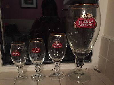 Rare 5 Pint Stella Glass Set Includes Pint, 330ml and 1/2pint