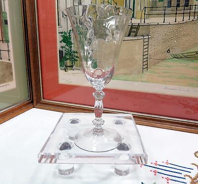 """Cambridge Glass Crystal #300 Caprice 7 1/2"""" Water Goblet 1936-1958"""
