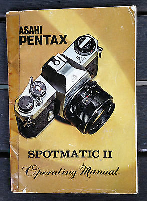 1973 ASAHI PENTAX SPOTMATIC II operating manual in GC, SLR