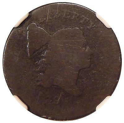 1795 NO POLE THIN 1/2c NGC G-04 C-6a REV MISALIGNED DIE ~ NEAT COPPER HALF CENT