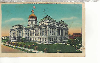 Indiana State Capital  Indianapolis IN  Mailed 1941 Linen Postcard 1197