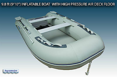 "9'10"" (300 cm) inflatable boat with high pressure air floor DINGHY 4 person"