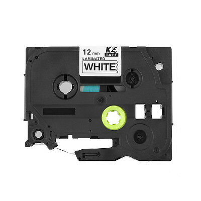 Lots Compatible Label Tape TZ231 Tze 12mm x8m for Brother P-Touch Black On White