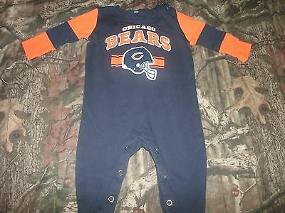 Chicago Bears Baby Cotton Team Believer Sleeper (FREE SHIPPING) 0-3 months