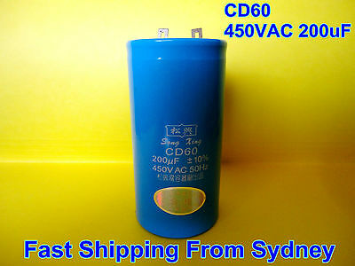 CD60 450VAC 200uF 50Hz Air Conditioner Appliance Motor Capacitor **NEW**