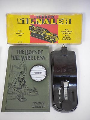 FLERON Morse Code Signal Trainer for Boy Scouts + 1912 Boys of the wireless book