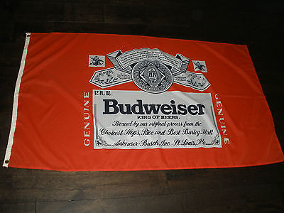 Budweiser Beer Large Banner Man Cave - Collectable