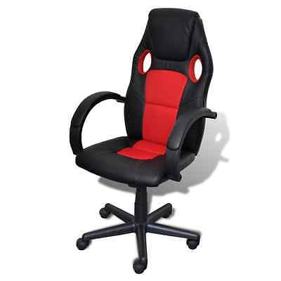S# Overdrive Racing Office Chair Seat Executive Computer Gaming Faux Leather Red